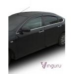Дефлекторы окон Nissan Almera 2012 - седан накладные скотч к-т 4 шт. - Novline