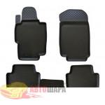 Коврики Honda Accord (03-) резиновые бежевые Norplast