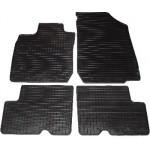 Резиновые коврики RENAULT LOGAN 2004 черные /MCV 4 шт - Petex