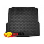 Ковер в багажник Skoda Octavia A7 (2013>) (универсал) (с боксом усилит.)- твердый - AvtoGumm