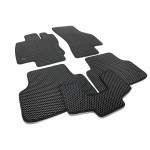 Ковры салона  Skoda Octavia A7 (2012-) EVA-чёрные, кт. 5шт