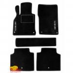 Коврики текстильные INFINITI Q50 c 2014 черные в салон