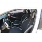 Чехлы сиденья HYUNDAI New Accent (Solaris) седан деленая спинка с 2011г фирмы MW Brothers - кожзам