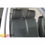 Авточехлы для Volkswagen TRANSPORTER T6 (1+1) c 2013 - кожзам - Premium Style MW Brothers