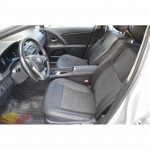 Авточехлы для Toyota Avensis III c 2009 - кожзам - LEATHER STYLE MW Brothers