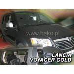 Ветровики для LANCIA VOYAGER GOLD 5D 2012R.->(+OT) - вставные - Heko