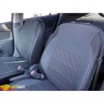 Авточехлы для KIA RIO III седан JB (2005-2011) - кожзам - Premium Style MW Brothers