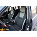 Авточехлы для SUZUKI GRAND VITARA с 2005 - кожзам + алькантара - Leather Style MW Brothers