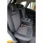 Авточехлы для MAZDA CX-5 с 2012- кожзам + алькантара - Leather Style MW Brothers