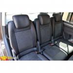 Авточехлы для Volkswagen TOURAN (2003-2015) - кожзам + алькантара - Leather Style MW Brothers