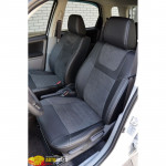 Авточехлы для SUZUKI SX4 (2006-2012) - кожзам + алькантара - Leather Style MW Brothers
