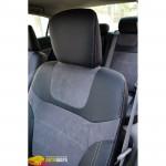 Авточехлы для HONDA CIVIC NEW (2012-....) - кожзам + алькантара - Leather Style MW Brothers