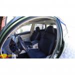 Авточехлы для SUBARU OUTBACK (2009-2014) - кожзам + алькантара - Leather Style MW Brothers