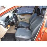 Чехлы сиденья CHEVROLET Aveo T250 (седан) с 2003-2011г фирмы MW Brothers - кожзам