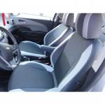 Чехлы сиденья CHEVROLET Aveo Т300 NEW (седан) с 2012 фирмы MW Brothers - кожзам