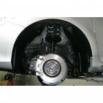 ЗАЩИТА КОЛЕСНОЙ АРКИ Toyota CAMRY 2011 ПЕРЕДН., ЛЕВ. - короткий (не закрывает 30 см передней части) Novline