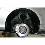 ЗАЩИТА КОЛЕСНОЙ АРКИ Toyota CAMRY 2011 ПЕРЕДН., ПРАВ. короткий - (не закрывает 30 см передней части) Novline