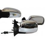 Зеркало боковое YH-3109A/LADA Samara 08,09,13-15/Chrome/light/хром с поворотом