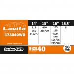 Цепи для полного привода 2 штуки 14-16 дюймов - Size 40 - Lavita