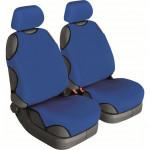 Майки универсальные Cotton синий, к-т 2шт. на передние сиденья, без подголовников BELTEX
