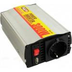 Преобраз. напряжения PULSO/IMU 300/12V-220V/300W/USB-5VDC0.5A/мод.волна/прикур-клеммы