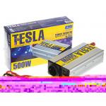 Преобраз. напряжения TESLA ПН-22500/12V-220V/500W/USB-5VDC0.5A/мод.волна/клеммы