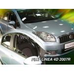 Ветровики на FIAT LINEA 4D OD 2007R (+OT) - HEKO