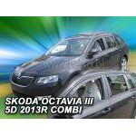 Ветровики на Skoda OCTAVIA III 5D 2013R->(+OT) универсал - HEKO