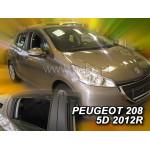 Ветровики для PEUGEOT 208 5d с 2012r(+OT) - HEKO