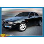 ALFA ROMEO 156 седан (1997-2007) Нижние молдинги стекол (нерж.) 4 шт. - Omsa Line