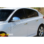 Chevrolet Cruze хетчбек (2011-) Нижние молдинги стекол (нерж.) 6 шт. - Omsa Line