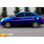 Hyundai Accent седан (2005-2011) Накладка на лючок бензобака (нерж.) - Omsa Line