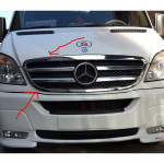 Mercedes Sprinter (2006-2013) Окантовка на решетку радиатора (нерж.) 2 шт. - Omsa Line