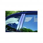 Nissan X-Trail (2008-) Молдинги дверных стоек (нерж.) 6 шт. - Omsa Line