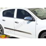 Opel Astra H (2004-2009) Молдинг дверной (нерж.) 4 шт. - Omsa Line