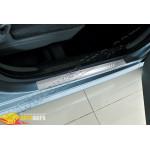 Peugeot 107 Дверные пороги (нерж.) 2 шт.
