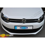 VW Polo хетчбек (2009-) Накладки на решетку радиатора (нерж.) 2 шт. - Omsa Line