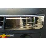 VW T5 Multivan (2010-) Накладки на передний бампер (нерж.) 2 шт. (Брови) - Omsa Line