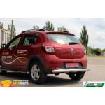 защита задняя Dacia/Renault Sandero Stepway 2012+ /ровная - ST-Line
