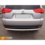 защита задняя Mitsubishi Pajero Sport 08+ /ровная - ST-Line