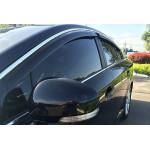 Дефлекторы окон Kia Optima 2011-> 4дв Хром молдинг - HIC