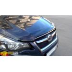 Дефлктор капота Subaru Impreza 2011- / XV 2012-, темний - SIM