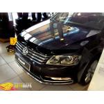 Дефлктор капота Volkswagen PASSAT В7, седан, универсал, 11-, темный - SIM