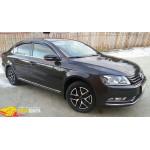Дефлекторы окон Volkswagen PASSAT B7 седан, 11-, 4ч., темный - SIM
