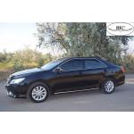 Дефлекторы окон Toyota Camry V50 2011 -> 4дв Хром молдинг - HIC