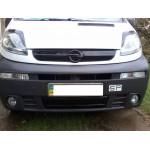Зимняя накладка Opel Vivaro 2001-2006 (решетка) - FLY