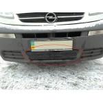 Зимняя накладка Opel Vivaro 2006-2015 (бампер низ)
