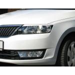 Ресницы передних фар Skoda Rapid 2012- - AutoPlast