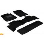 Трехслойные коврики Sotra 3D Premium 12mm Black для Toyota Land Cruiser Prado (J120) 2003-2009