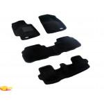 Трехслойные коврики Sotra 3D Premium 12mm Black для Toyota Highlander (mkII) 2008-2011 gasoline